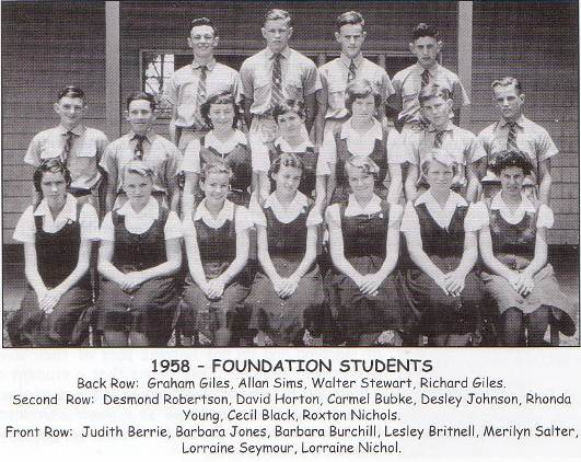 1958 foundation students